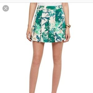 Anthropologie Elevenses Skort Green Motif